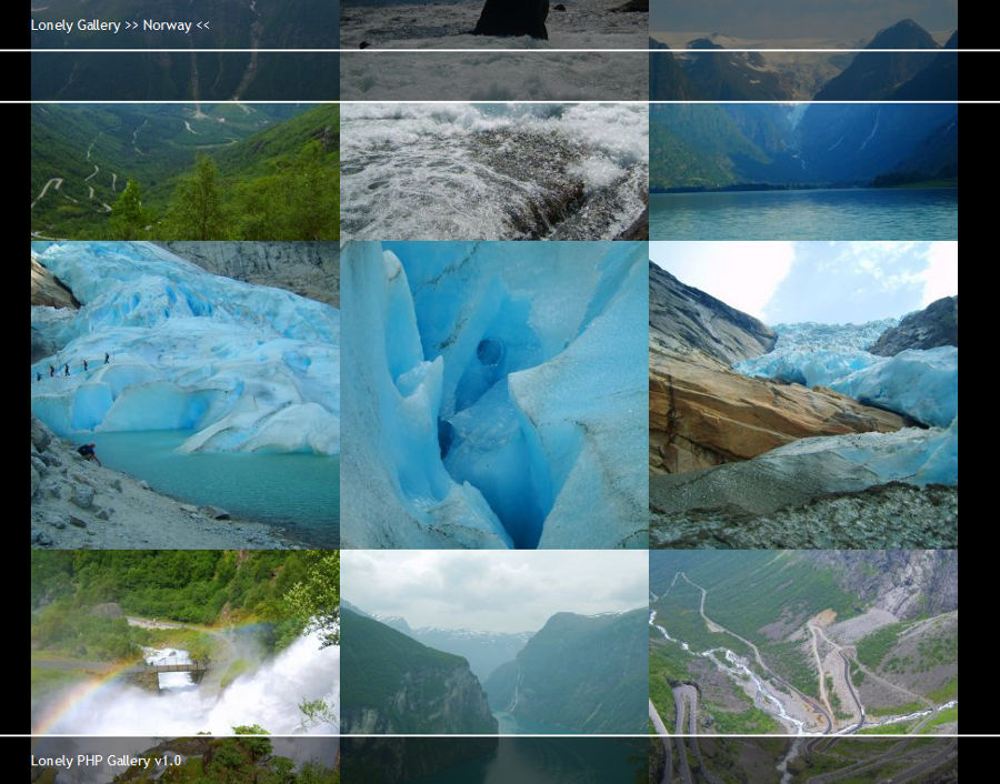Screenshot of Lonely PHP Gallery 1.0.2